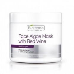 Maska algowa z czerwonym winem
