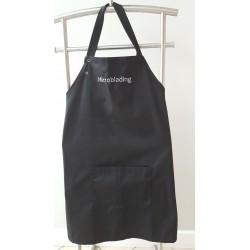 """Zapaska kosmetyczna - czarna - z logo """"MICROBLADING"""""""