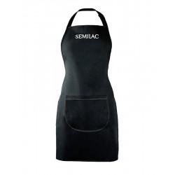 Semilac fartuszek czarny z białym logo Semilac