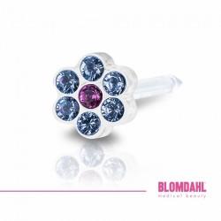 BLOMDAHL Daisy 5mm, Alexandrite/Rose