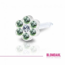 BLOMDAHL Medical Plastic 5mm Peridot/Crystal