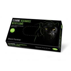 Czarne rękawice nitrylowe BLACK PANTHER