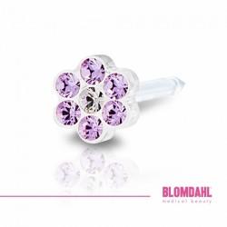 BLOMDAHL 5mm, Violet/Crystal