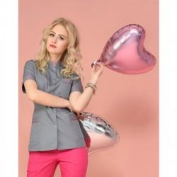 Rena Fartuch model 12 szary+fuksja roz.36