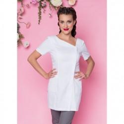 Rena Fartuch model 49 biały 75cm ZAMEK roz.36
