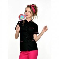 Rena Fartuch model 12 czarny+fuksja roz.48