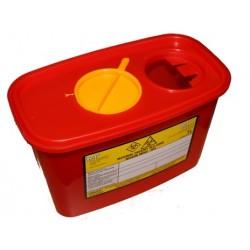 Pojemnik na odpady medyczne prostokątny 1 L