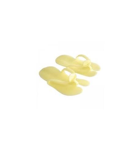 Klapki jednorazowe piankowe Zółte 10par