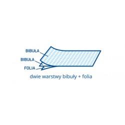 Prześcieradło RÓŻOWE 2xbibuła+folia 50x50 80szt.