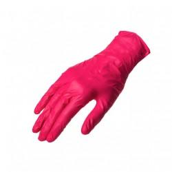 Rękawiczki nitrylowe MALINOWE S 100szt